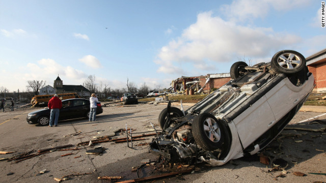 Tornadoes pummeled Henryville, Indiana