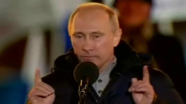 Putin declares victory in Russia's Presidential election.