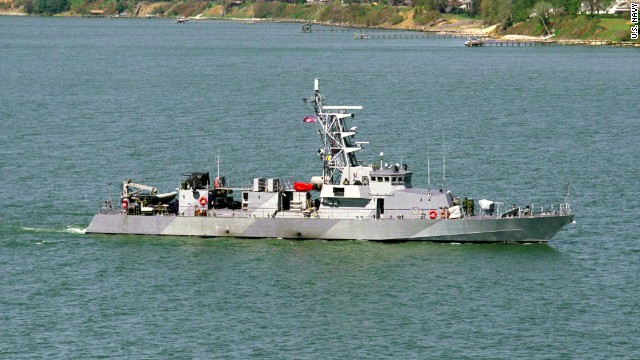 The coastal patrol boat USS Firebolt participated in the rescue of an Iranian seaman in the Persian Gulf.