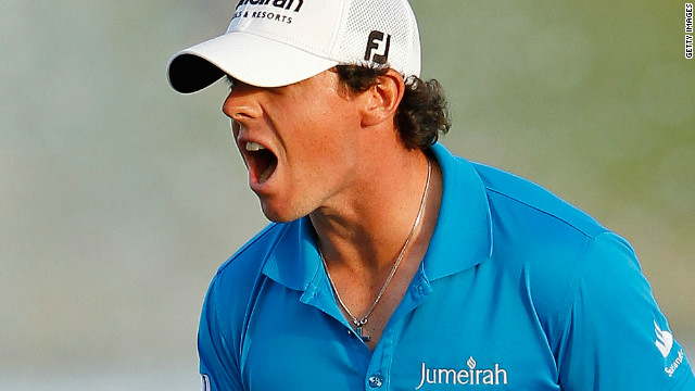 Rory McIlroy shows what it means to be new world no 1 after holing his winning putt at the Honda Classic.