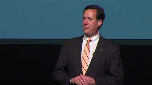 Santorum takes aim at health care reform