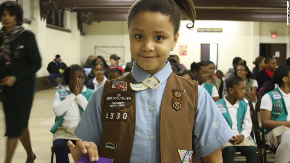"<strong>KAITLYN JEAN-BART </strong>is<strong> </strong>eight and joined the Girl Scouts five years ago and particularly likes helping others, ""get stuff for the charity, put them in boxes and ship them off,"" she said. Her Father is Haitian and her mother is from North Carolina."