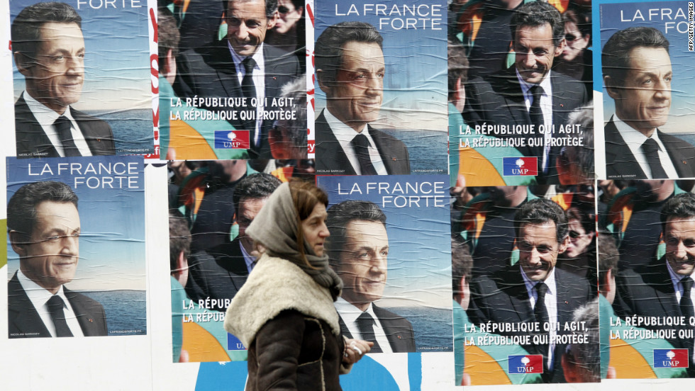 France, which is preparing for presidential elections in April, has limits on campaign expenditures -- which might explain the ugly posters.