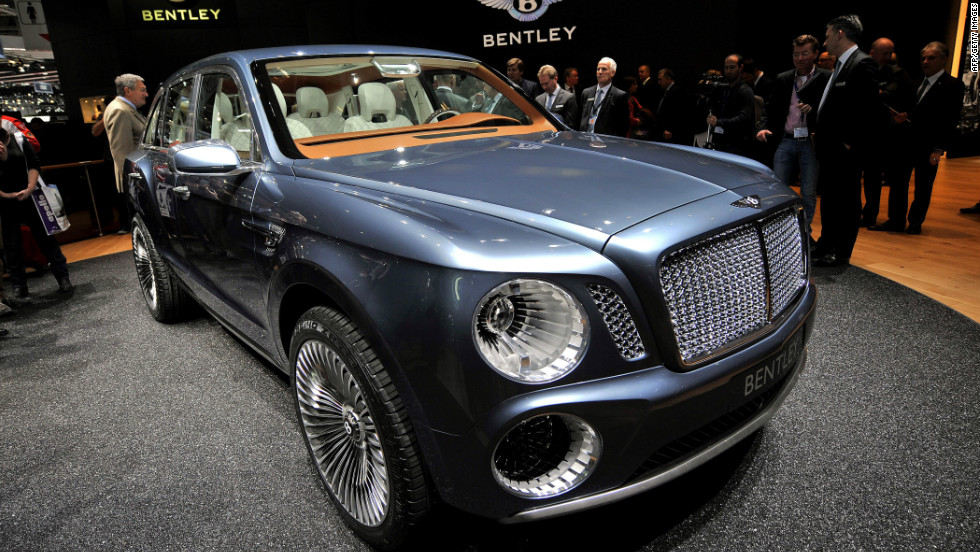 The Bentley EXP 9 F concept car is displayed at the British car maker's stand. Some 700 car manufacturers will be displaying at the show, which opens to the public from March 8 to 18.