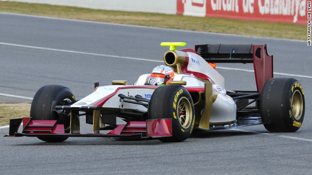 HRT were finally able to unveil their 2012 car after it had initially failed an official crash test.