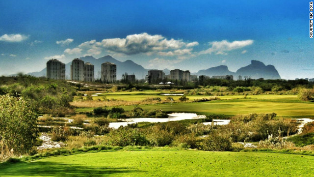 An illustrative view of the proposed Olympic golf course in the suburbs of Brazilian city Rio.