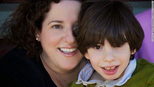Ellen Seidman and her son Max, who has cerebral palsy.