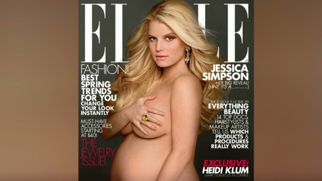Jessica Simpson bares all for Elle