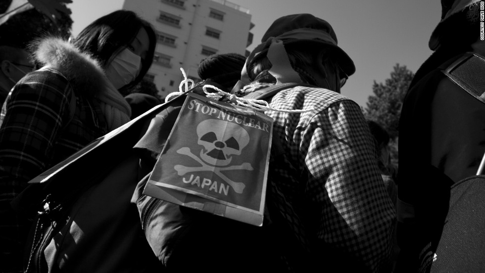 "The Fukushima meltdown has caused many Japanese to lash out against nuclear power in the country. ""As the date of the one-year mark comes closer, these protests only grow stronger,"" said iReporter David Woo."