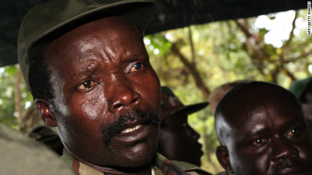 The leader of the Lord's Resistance Army, Joseph Kony answers journalists' questions 12 November at Ri-Kwamba in Southern Sudan following a meeting with UN humanitarian chief Jan Egeland.