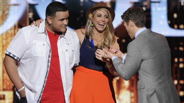 """American Idol's"" Jeremy Rosado and Elise Testone find out who will be eliminated from the competition."