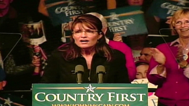 2008: Sarah Palin's pre-election speech