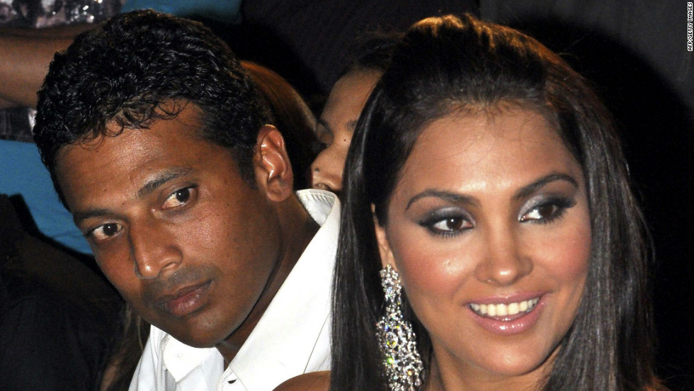 Tennis star Mahesh Bhupathi is a prominent figure on the Bollywood scene. His company represents several film stars and also produces its own features. His wife is Bollywood actress Lara Dutta, right.