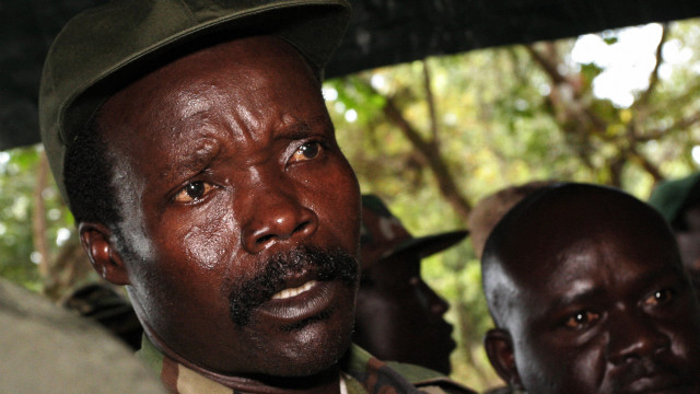 Leader of the Lord's resistance Army (LRA), Joseph Kony, pictured in southern Sudan in 2006.