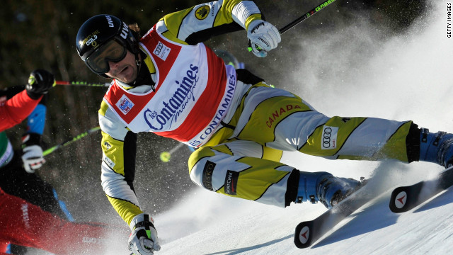 Canada's Nik Zoricic competing in a World Cup event earlier this year. He has died after a crash in a race in Switzerland.