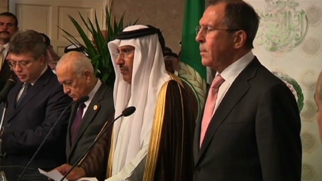 Russia defends stance to Arab League