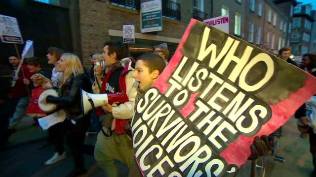 Strauss-Kahn protest in Cambridge