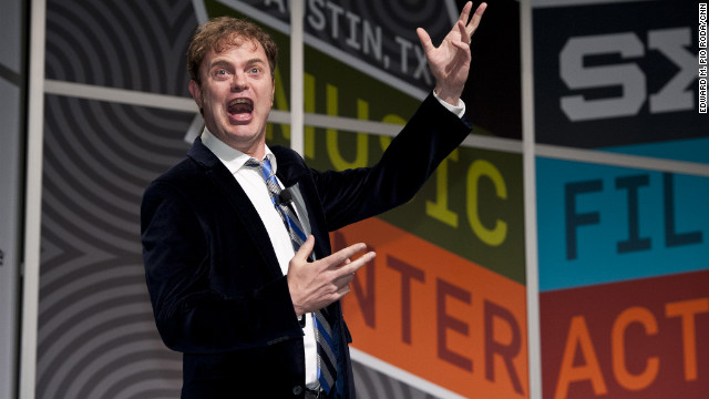 Actor Rainn Wilson spoke before thousands of fans Saturday at SXSW in Austin, Texas. He wasn't usually this silly.