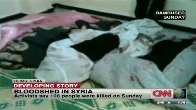 Activists accuse Syria of 'massacre'