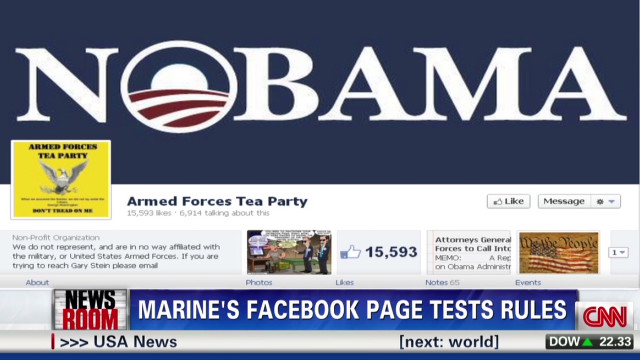 Marine launches anti-Obama Facebook page