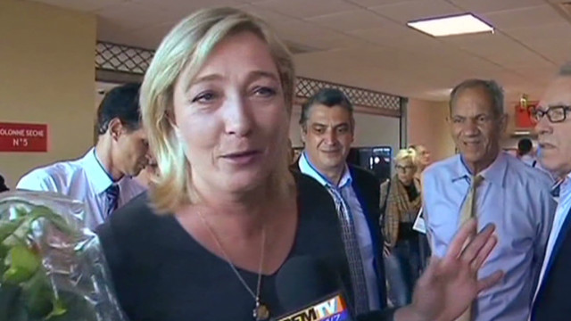 France's extreme right party advances