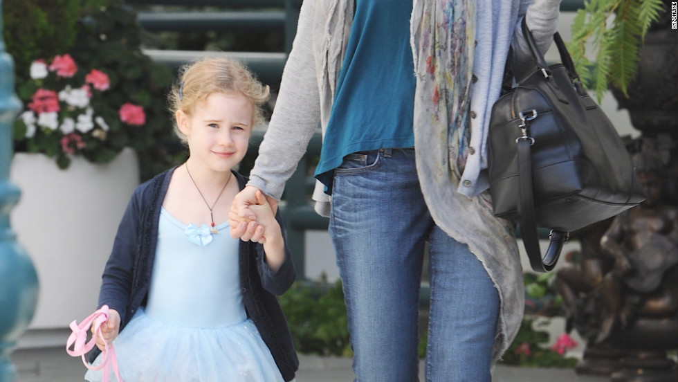 Marcia Cross picks up her daughter from ballet class in Beverly Hills.