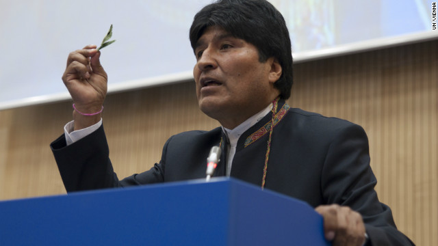 Banned coca leaves show up at U.N.