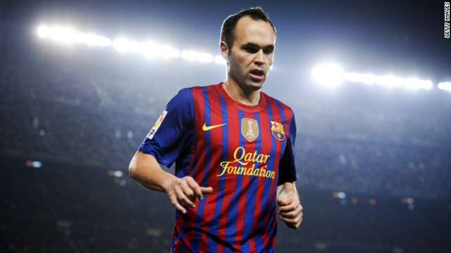 Barcelona's midfield star Andres Iniesta has been named UEFA's Best Player in Europe for 2011/12.
