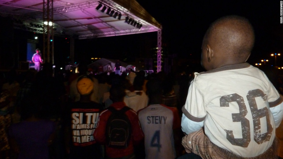 Even children attend hip hop concerts in Gabon.