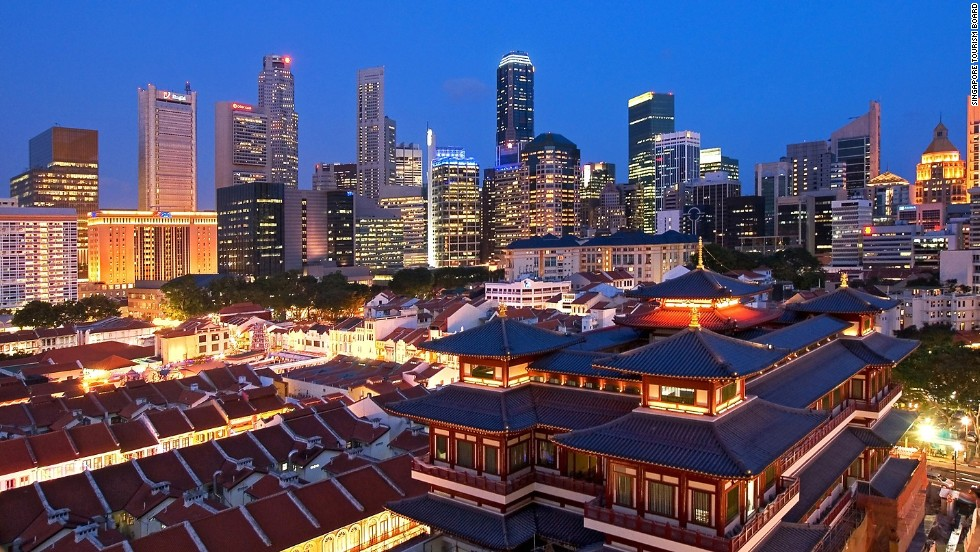 Singapore's condensed landscape means visitors can quickly tour some of the city's most famous attractions and be back at the airport in a matter of hours.