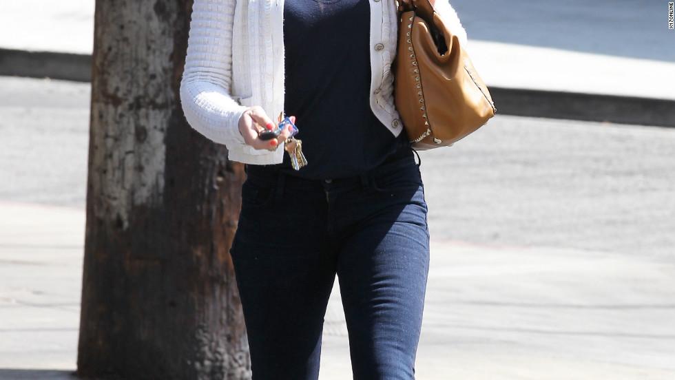 Katherine Heigl dines in Los Feliz.