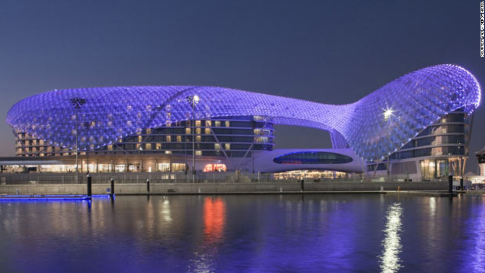 "Yas Viceroy Hotel in Abu Dhabi. See more photos of the hotels at <a href=""http://www.budgettravel.com/slideshow/photos-the-hotel-worlds-most-striking-architecture%2C8367/?cnn=yes"" target=""_blank"">BudgetTravel.com</a>."
