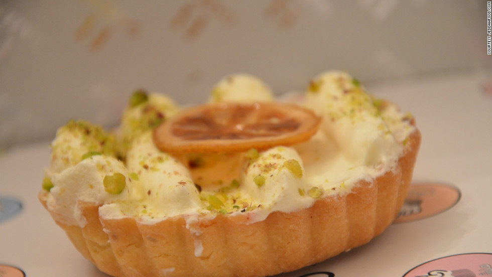 A key lime pie from Munch Bakery. The first branch of Munch Bakery was launched in 2008 by a group of young Saudis. It now has two branches in Jeddah and one in Riyadh and specializes in sweet treats.