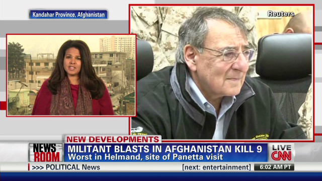 Bombings greet Panetta in Afghanistan