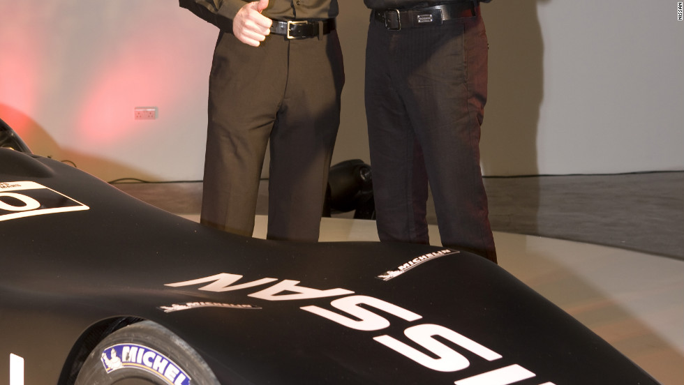 """The DeltaWing will not be driven by the """"Caped Crusader"""" but by Germany's Michael Krumm and Britain's Marina Franchitti, left -- the younger brother of IndyCar legend Dario Franchitti and cousin of Formula One's Paul di Resta."""