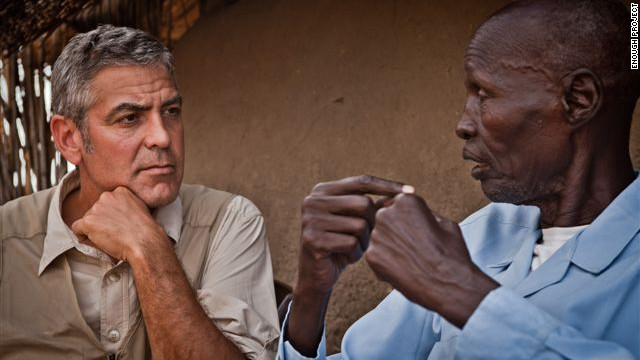 Actor George Clooney visited southern Sudan in January 2011 on the eve of the country's secession vote.