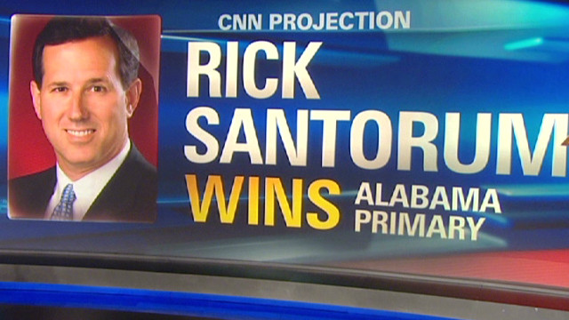 al prime santorum projection win alabama_00003105