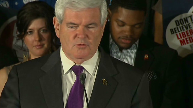 Gingrich gracious in defeat to Santorum