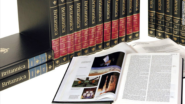 Encyclopedia Britannica 'done printing'