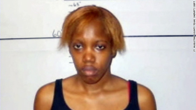 Krystle Tanner of San Augustine, Texas, is charged with kidnapping a baby more than seven years ago.