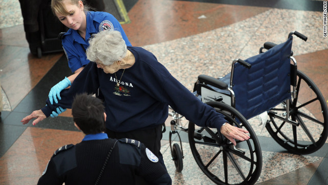 Under new TSA guidelines, passengers deemed to be 75 or older will be subjected to less rigorous screening.