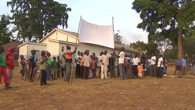 Villagers in Uganda watch 'Kony 2012'