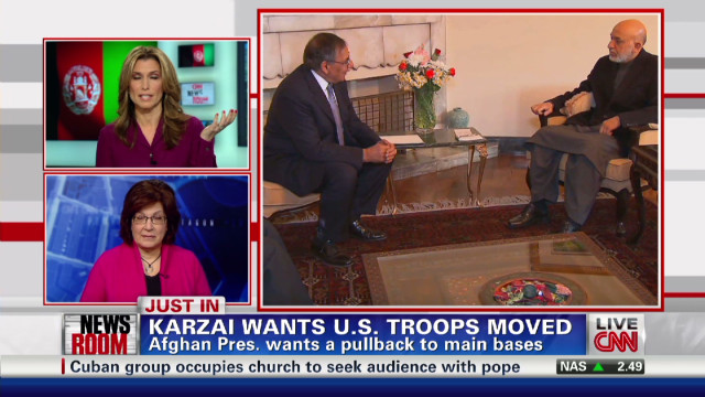 Karzai wants U.S. troop pullback
