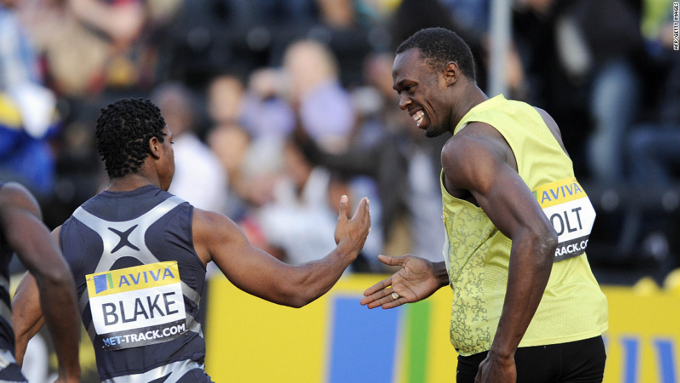 In terms of training partners, Blake couldn't have a better role model than world record-holder Bolt -- who he looks up to for all that he has achieved in athletics. But though the pair are friends, Blake still wants to take his titles.