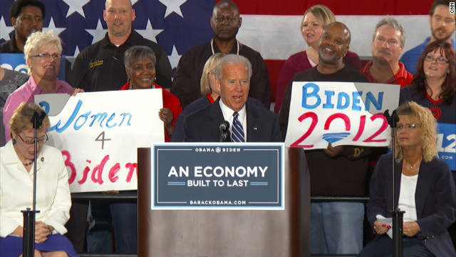 Biden 'comfortable' with gay marriage