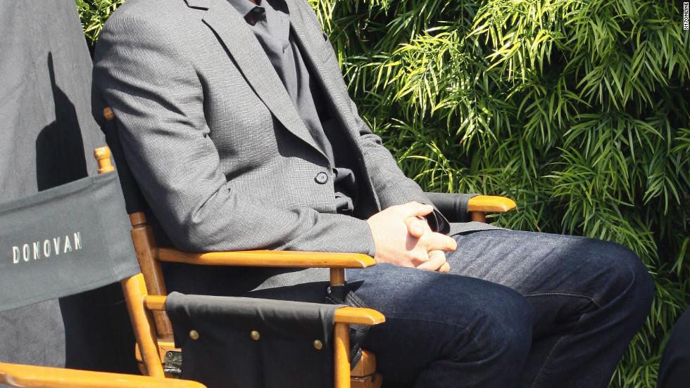 Liev Schreiber shoots a TV movie in Hollywood.
