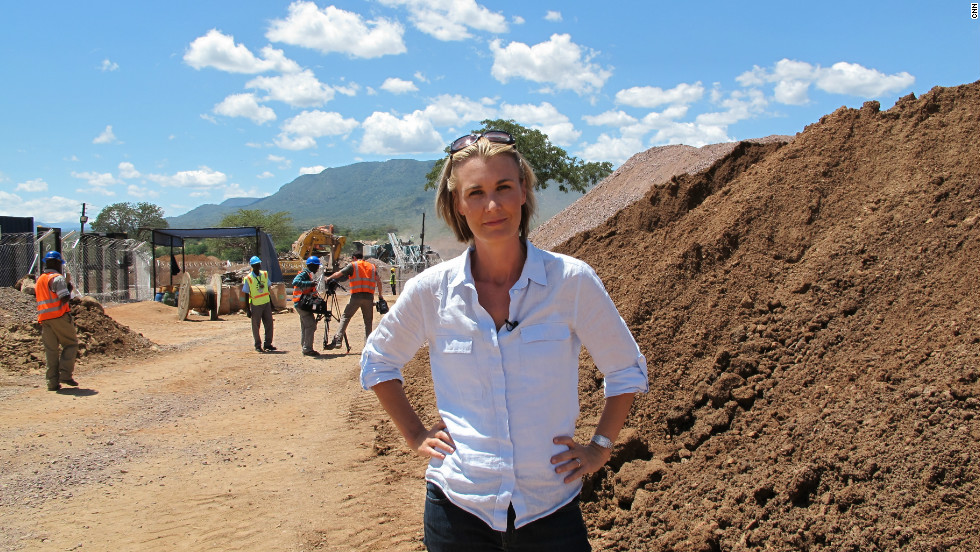 The Marketplace Africa team, along with host Robyn Curnow (<em>pictured</em>), gained exclusive access to the diamond fields after weeks of negotiations.