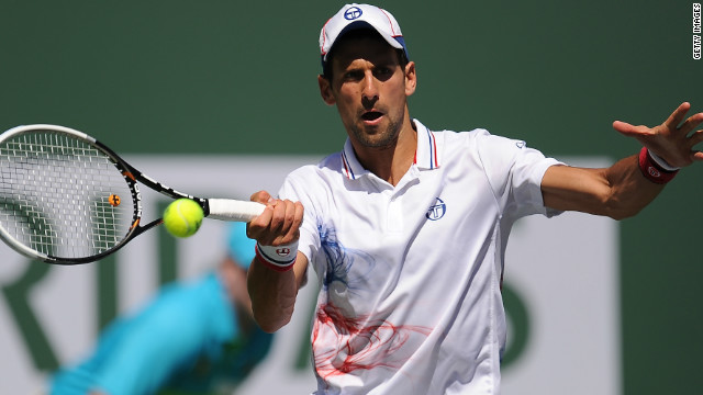 World No. 1 Novak Djokovic has now won 10 consecutive matches at Indian Wells.