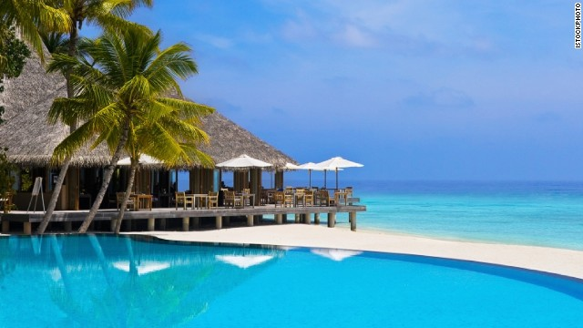 A Maldives resort.