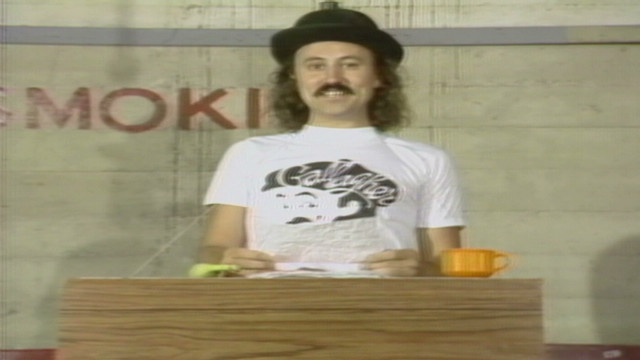 1980: Gallagher's news anchor comedy
